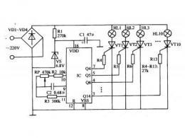 彩灯控制电路