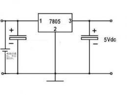 7805稳压电源电路图