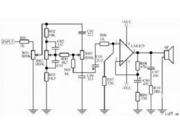 低音炮电路图
