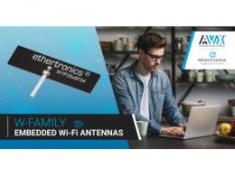 AVX推出了一款工作频率可达6 ghz的新型嵌入式Wi-Fi天线