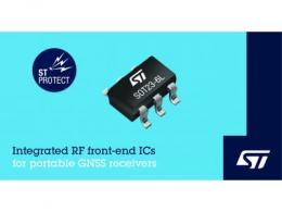 意法半导体发布集成阻抗匹配和保护功能的新射频IC 可简化便携式GNSS接收器设计
