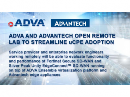 研华与ADVA共创开放式远程实验室,让uCPE部署变简单