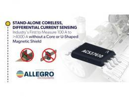Allegro扩展面向电动汽车和工业等应用的 无芯电流传感器产品组合