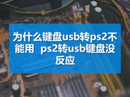 为什么键盘usb转ps2不能用 ps2转usb键盘没反应