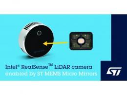 意法半导体世上最小的微镜扫描技术助力英特尔Intel® RealSense™高分辨率LiDAR深度摄像头L515