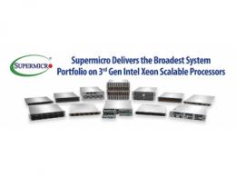 Supermicro推出最多样化的服务器系列,搭载第3代IntelXeon可扩展处理器