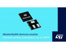 意法半导体推出新款MasterGaN4器件,实现高达200瓦的高能效功率变换