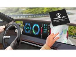 Microchip发布首款用于大型超宽触摸屏的车用单芯片解决方案