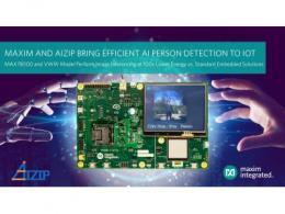Maxim Integrated宣布与Aizip达成合作,为业界提供最低功耗的IoT人形识别方案