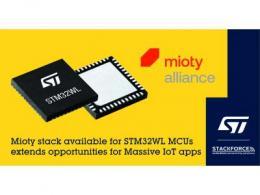 意法半导体加入mioty®联盟,拓展大规模物联网 (Massive IoT) 应用机会
