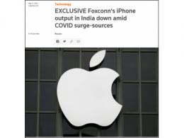 富士康印度工厂出现大规模感染 苹果手机产量下滑超50%
