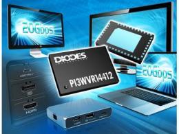 Diodes Incorporated 的 20Gbps 多通道多工器/解多工器可提升 HD/UHD 視訊訊號繞送效益