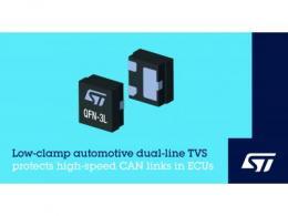 意法半导体车规低电容瞬压抑制器可保护高速接口