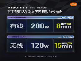 小米再创两项充电新纪录!魔改小米11 Pro首发200W有线快充和120W无线快充