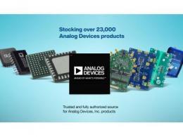 贸泽电子分销种类丰富的Analog Devices新品