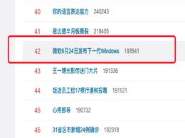 """""""微软6月24日发布下一代Windows""""上热搜 网友:来抢鸿蒙风头的吧?"""