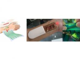 三星公开可拉伸OLED皮肤贴片,可用来监测显示身体数据
