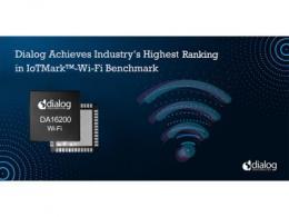 Dialog半导体公司在IoTMark™-Wi-Fi基准测试中达到行业最高排名
