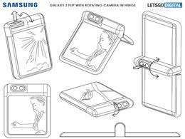 【专利】三星新专利图曝光:带旋转摄像头的翻盖折叠手机