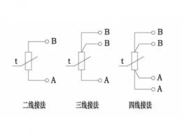 热电阻温度传感器接线原理图说明