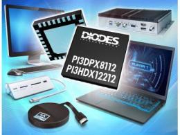 Diodes 公司的可调式线性 ReDrivers 可在高速 DisplayPort 2.0 和 HDMI 2.1 接口