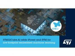 意法半导体STM32Cube.AI生态系统加强对高效机器学习的支持