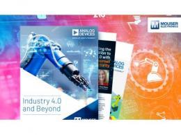 贸泽电子与Analog Devices联手推出新电子书  《Industry 4.0 and Beyond》