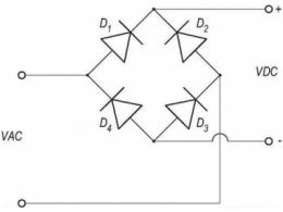 桥式整流器怎么接线 桥式整流器4个脚接线图