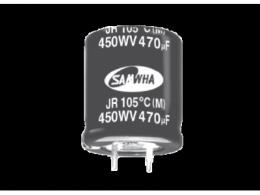 易于安装:儒卓力提供Samwha JR系列卡入式电容器
