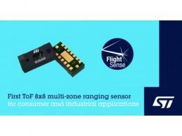 意法半导体发布8x8区测距飞行时间传感器,赋能应用创新
