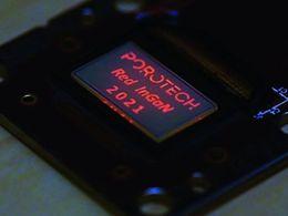 Porotech开发出首款原生红色氮化铟镓基Micro LED显示器