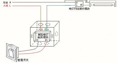 单火单路白炽灯开关模块的接线方式