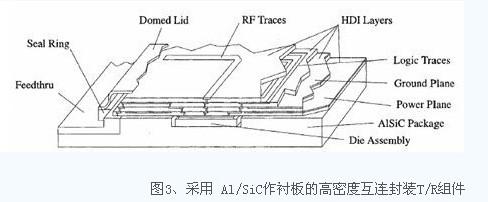 其结构示意图如图4所示,在同一块氧化铝陶瓷基板(厚0.