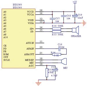 另外,isd2560控制电平与ttl电平兼容,接口简单,使用方便.