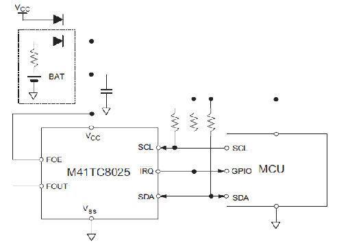 M41TC8025硬件连接图