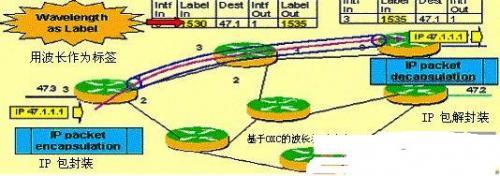 多协议标签交换技术在全光互联网中的应用