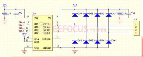 步进电机模块原理图
