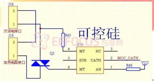可控硅控制电路原理图