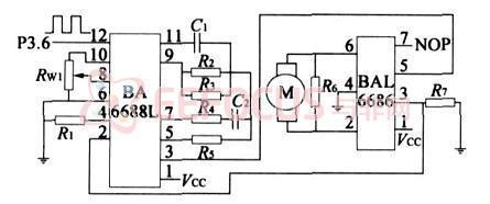 伺服电动机驱动电路-基于PIC单片机及图像处理技术设计的智能台球机图片