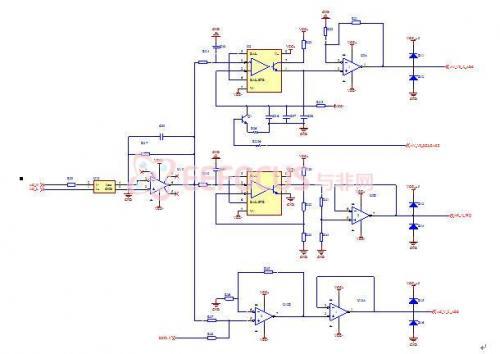此电压互感器为电流型,先将待测电压转换成电流信号输入互感器的一次