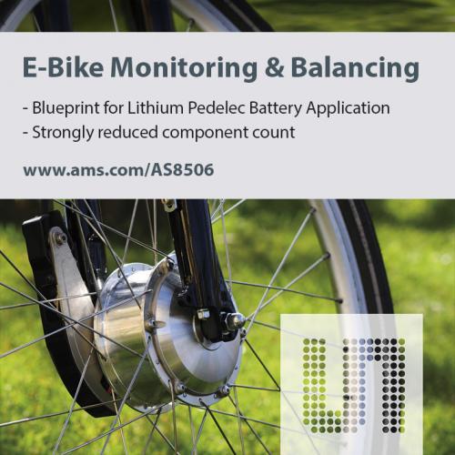 奥地利微电子为电动踏板车推出电池管理参考设计
