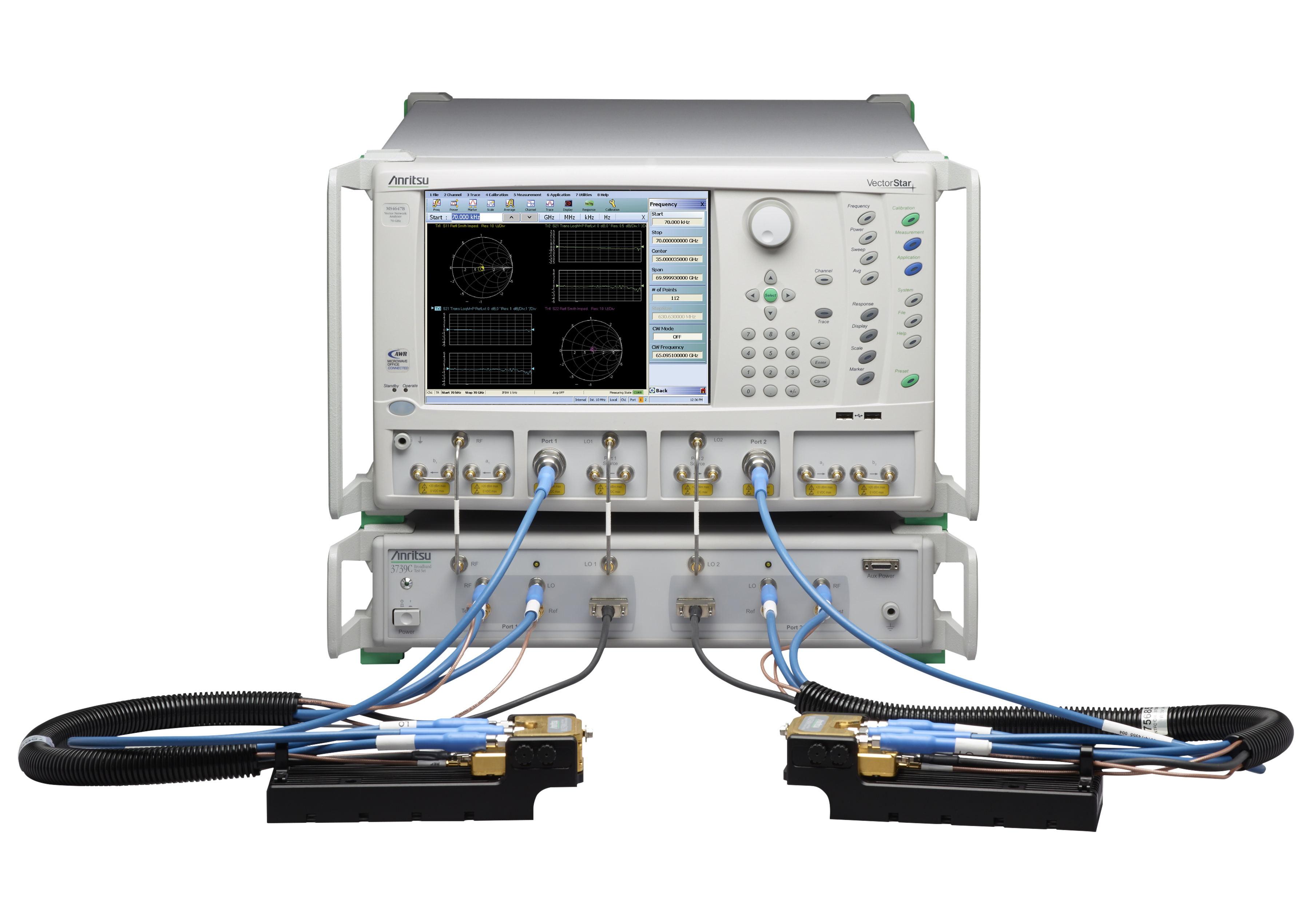 ghz的宽带矢量网络分析仪系统