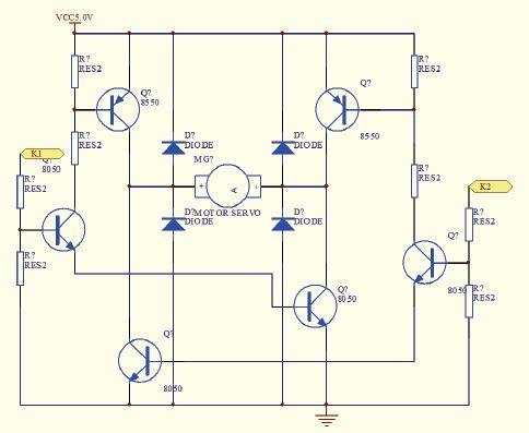 图2电机驱动电路原理图