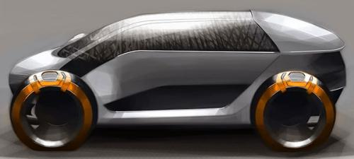 这款太阳能电动车表面覆盖内嵌光伏结构的玻璃