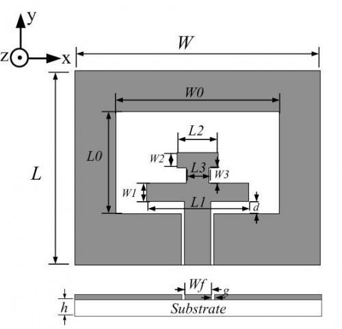 一种小型共面波导馈电H型枝节超宽带天线设计