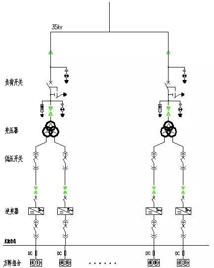 对直流系统和逆变器的连接方式进行改进后,其升压系统接线图如下图