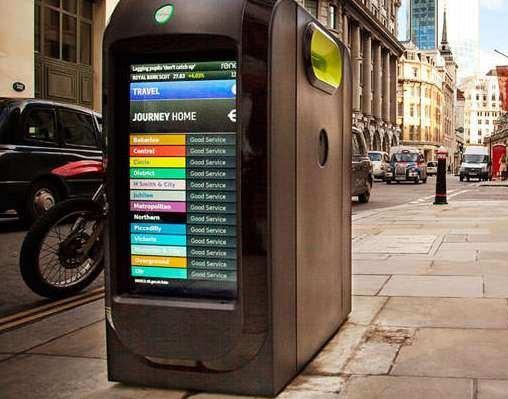 曾经出现在伦敦街头的智慧垃圾桶
