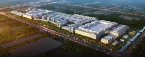 华虹无锡集成电路研发和制造基地鸟瞰图