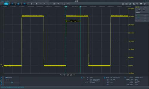 示波器界面_设备截图是指截取示波器的波形界面