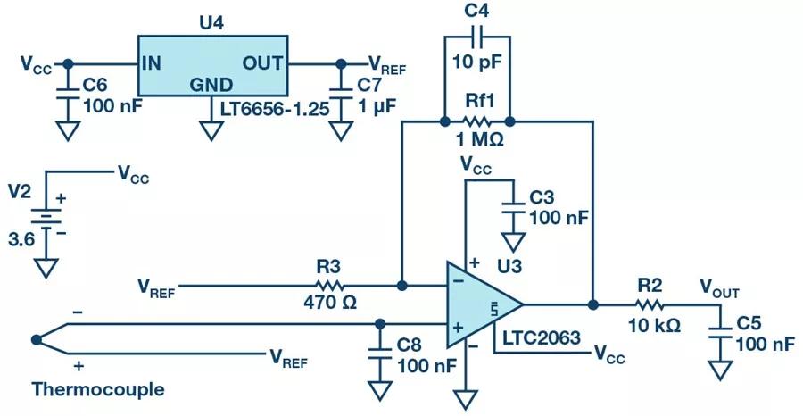 热电偶检测电路.